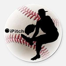 iPitch Baseball Round Car Magnet