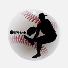 iPitch Baseball Round Ornament