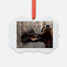 postcardFlyingGordon Ornament