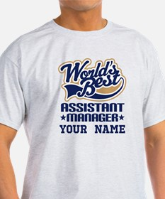 Worlds Best Assistant Manager Personalized T-Shirt