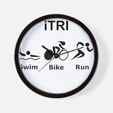 iTRI Black Wall Clock