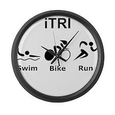 iTRI Black Large Wall Clock