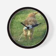 puppy bumper 60 Wall Clock