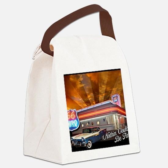 December-Design Canvas Lunch Bag