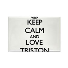 Keep Calm and Love Triston Magnets