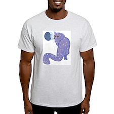 Night Cat Ash Grey T-Shirt