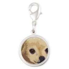 large cafe chihua Silver Round Charm