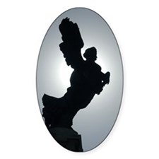 Ponte Sant' Angelo 3 Oval Decal