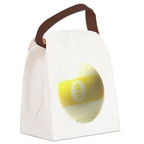 9 ball ornament Canvas Lunch Bag