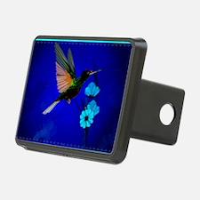 Green Hummingbird-Blue Flo Hitch Cover
