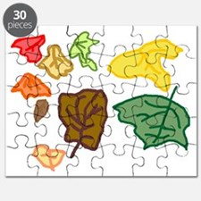 Connors autumn leaves age 3 tr Puzzle