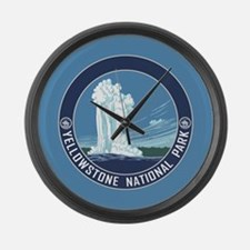 Yellowstone Travel Souvenir Large Wall Clock