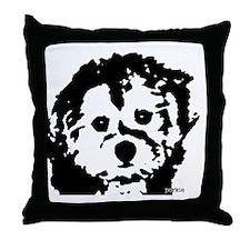 porkie_2bw Throw Pillow