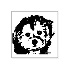 "porkie_2bw Square Sticker 3"" x 3"""
