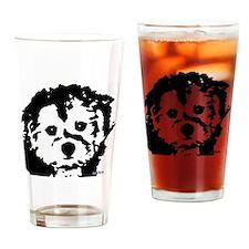 porkie_2bw Drinking Glass