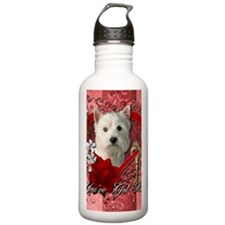 Valentine_Red_Rose_Wes Water Bottle