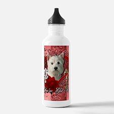 Valentine_Red_Rose_Wes Water Bottle