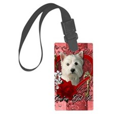 Valentine_Red_Rose_West_Highland Luggage Tag