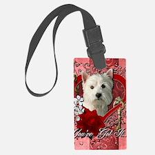 Valentine_Red_Rose_West_Highland Luggage Tag