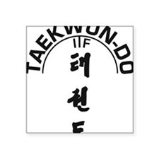 "ITF_Taekwon-do_Tree Square Sticker 3"" x 3"""