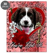 Valentine_Red_Rose_Springer_Spaniel_Baxter Puzzle