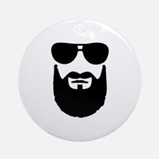 Full beard sunglasses Ornament (Round)