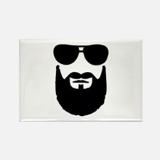 Full beard sunglasses Rectangle Magnet