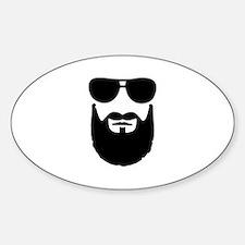 Full beard sunglasses Decal