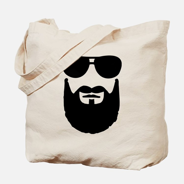 Full beard sunglasses Tote Bag