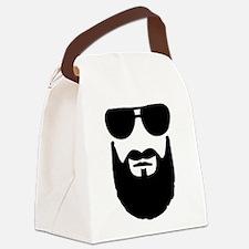 Full beard sunglasses Canvas Lunch Bag