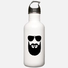 Full beard sunglasses Water Bottle