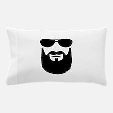 Full beard sunglasses Pillow Case