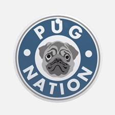 pug-nation Round Ornament