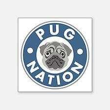 "pug-nation Square Sticker 3"" x 3"""