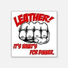 "Leather_02 Square Sticker 3"" x 3"""
