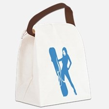 Snowboarding Canvas Lunch Bag