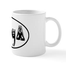 YOGA poses oval Mug