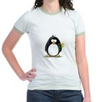 Yellow Rose Penguin Jr. Ringer T-Shirt