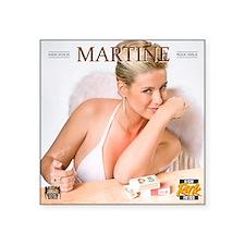 """RGcal-2011_01-martine-vanha Square Sticker 3"""" x 3"""""""