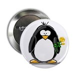 Yellow Rose Penguin Button