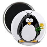 Yellow Rose Penguin Magnet