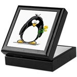 Yellow Rose Penguin Keepsake Box