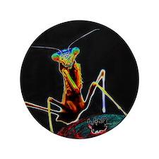 "Solarized Praying Mantis 3.5"" Button"