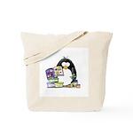 Scrapbook Penguin Tote Bag