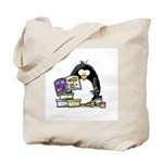 Scrapbook Penguin Tote Bag