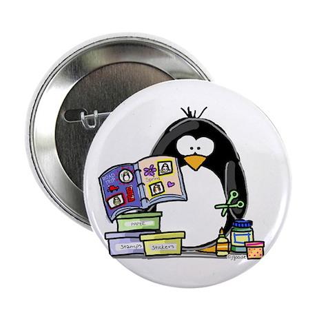 "Scrapbook Penguin 2.25"" Button (100 pack)"