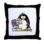 Scrapbook Penguin Throw Pillow