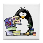 Scrapbook Penguin Tile Coaster