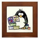 Scrapbook Penguin Framed Tile