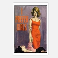 I PREFER GIRLS Postcards (Package of 8)